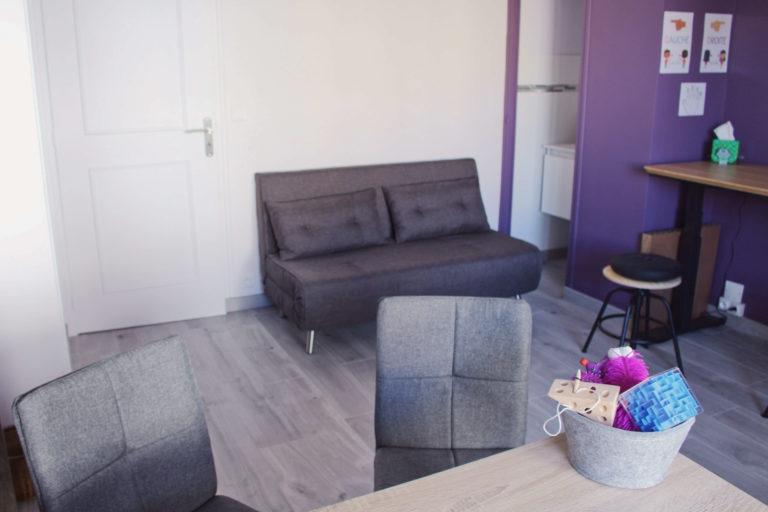 Photo du cabinet de graphothérapie de Claire Bechetoille - Claire de Plume